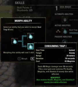 Morphing an ability